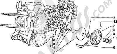 Piaggio Zip 125 4T 1998-2005 Semipolea motriz