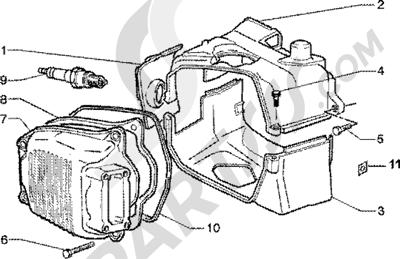 Piaggio Zip 125 4T 1998-2005 Tapa culata
