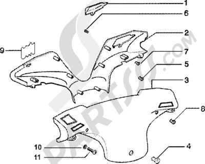 Piaggio Zip 125 4T 1998-2005 Tapas manillar