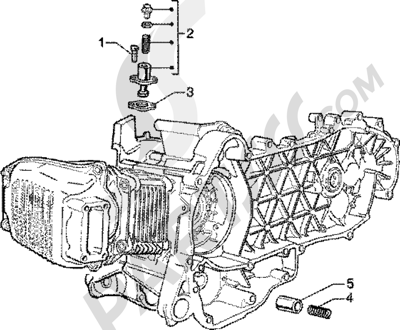 Piaggio Zip 125 4T 1998-2005 Tensor de cadena-valvula by-pass
