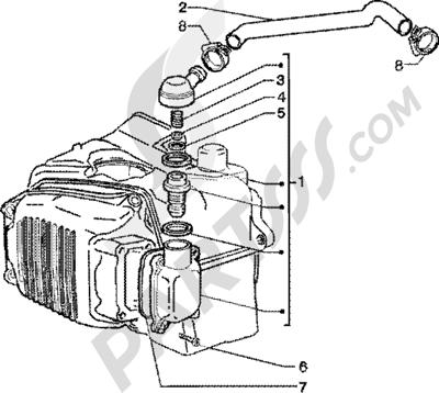 Piaggio Zip 125 4T 1998-2005 Valvula desfogue aceite