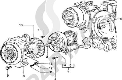 Piaggio Zip 125 4T 1998-2005 Volante magnetico