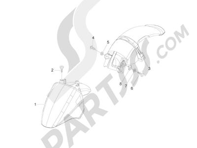 Piaggio Zip 50 2T 2009-2015 Alojamiento rueda - Guardabarros