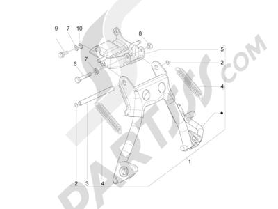 Piaggio Zip 50 2T 2009-2015 Caballete s