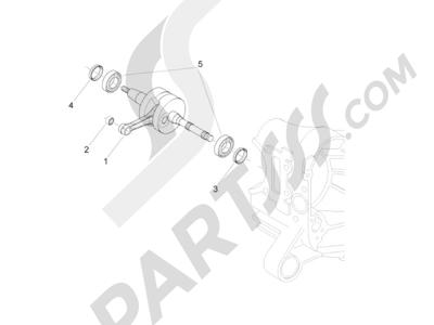 Piaggio Zip 50 2T 2009-2015 Cigüeñal