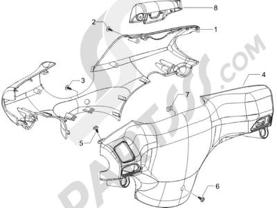Piaggio Zip 50 2T 2009-2015 Coberturas manillar