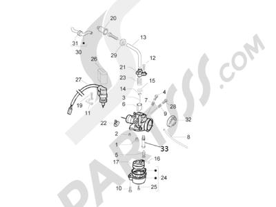 Piaggio Zip 50 2T 2009-2015 Componentes de carburador
