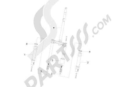 Piaggio Zip 50 2T 2009-2015 Componentes de la horquilla (Wuxi Top)