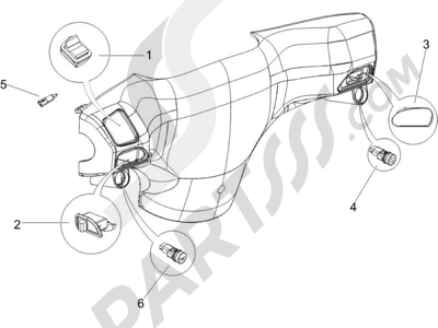 Piaggio Zip 50 2T 2009-2015 Conmutadores - Conmutadores - Pulsadores - Interruptores