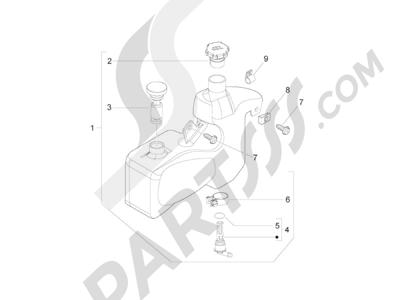 Piaggio Zip 50 2T 2009-2015 Depósito aceite