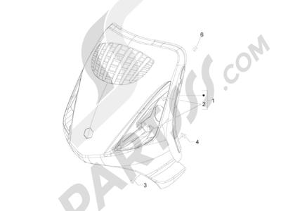 Piaggio Zip 50 2T 2009-2015 Escudo delantero