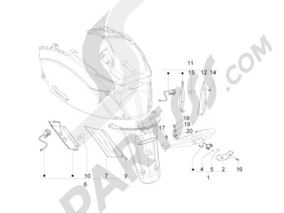 Piaggio Zip 50 2T 2009-2015 Faros traseros - Indicadores de dirección