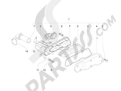 Piaggio Zip 50 2T 2009-2015 Filtro de aire