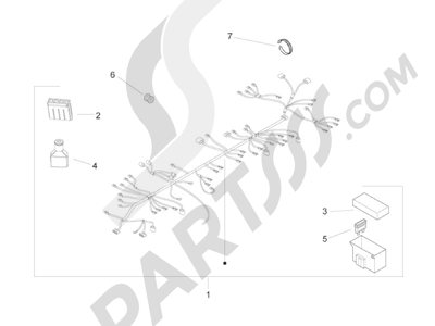 Piaggio Zip 50 2T 2009-2015 Grupo cables principal