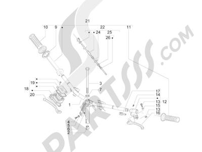Piaggio Zip 50 2T 2009-2015 Manillar - Bomba freno