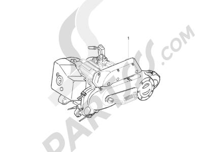 Piaggio Zip 50 2T 2009-2015 Motor completo