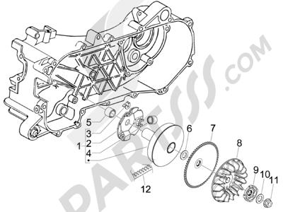 Piaggio Zip 50 2T 2009-2015 Polea conductora