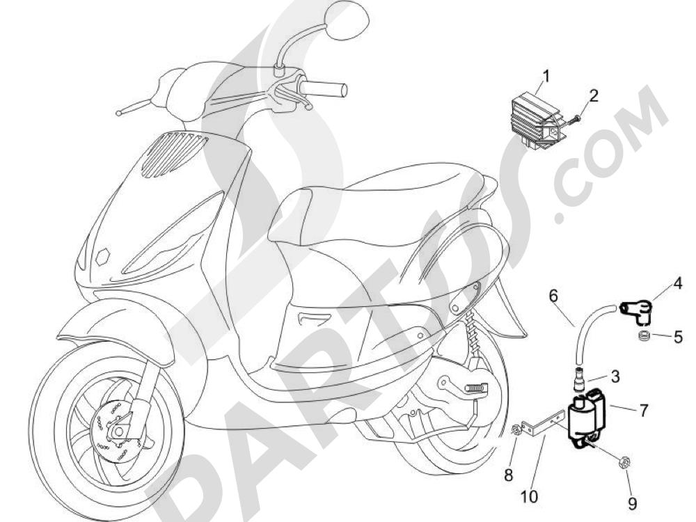 Piaggio Zip 50 2T 2009-2015 Reguladores de tensión - Centralitas electrónicas - Bobina A.T.