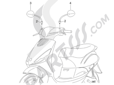 Piaggio Zip 50 2T 2009-2015 Retrovisor es