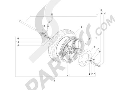 Piaggio Zip 50 2T 2009-2015 Rueda delantera