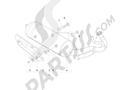 Piaggio Zip 50 2T 2009-2015 Silenciador