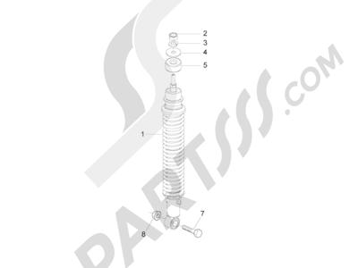 Piaggio Zip 50 2T 2009-2015 Suspensión trasera - Amortiguador es