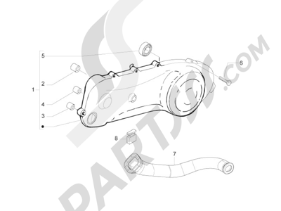 Piaggio Zip 50 2T 2009-2015 Tapa cárter - Refrigeracion cárter
