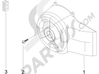 Piaggio Zip 50 2T 2009-2015 Tapa volante magnetico - Filtro de aceite