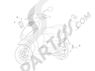 Piaggio Zip 50 2T 2009-2015 Telerruptores - Bateria - Claxon