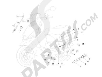 Piaggio Zip 50 2T 2009-2015 Transmisiónes