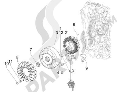 Piaggio Zip 50 2T 2009-2015 Volante magnetico
