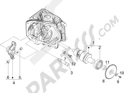 Piaggio Zip 50 4T 2006-2013 Grupo soporte balancines