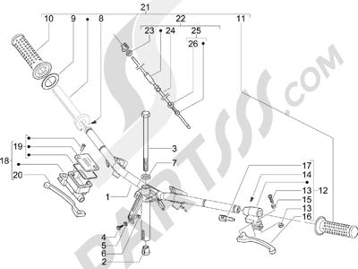 Piaggio Zip 50 4T 2006-2013 Manillar - Bomba freno