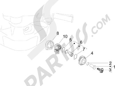 Piaggio Zip 50 4T 25 Km-h 2006-2013 Cerraduras