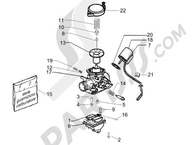 Piaggio Zip 50 4T 25 Km-h 2006-2013 Componentes de carburador