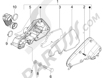 Piaggio Zip 50 4T 25 Km-h 2006-2013 Filtro de aire