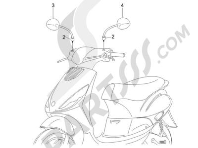 Piaggio Zip 50 4T 25 Km-h 2006-2013 Retrovisor es