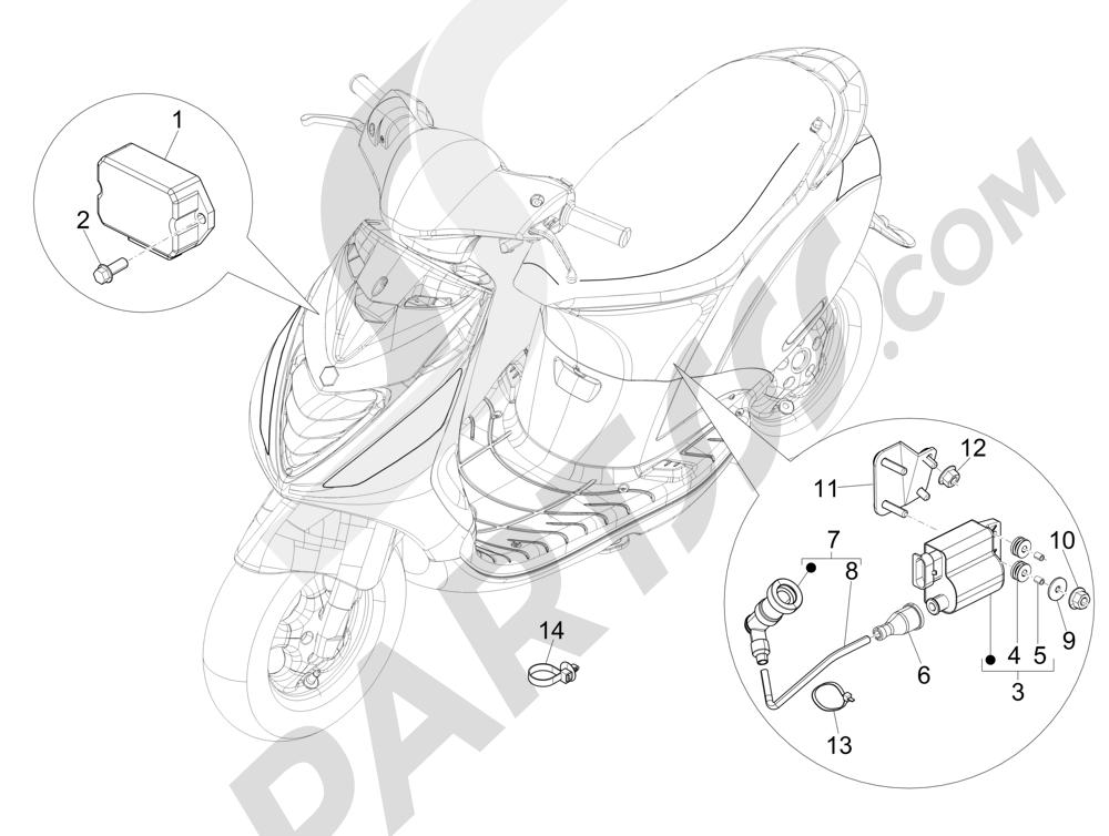 Piaggio Zip 50 SP Euro 2 2006-2013 Reguladores de tensión - Centralitas electrónicas - Bobina A.T.