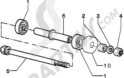 Piaggio Zip Catalyzed 1998-2005 Componentes rueda delantera