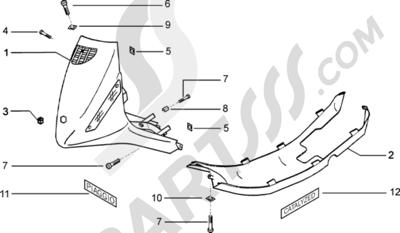 Piaggio Zip Catalyzed 1998-2005 Escudo-spoiler