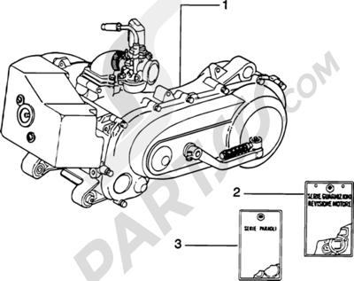Piaggio Zip Catalyzed 1998-2005 Motor