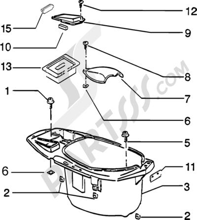 Piaggio Zip Catalyzed 1998-2005 Porta casco