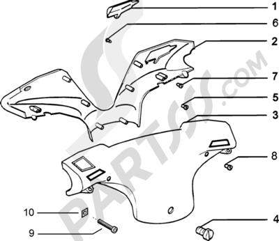 Piaggio Zip Catalyzed 1998-2005 Tapas manillar