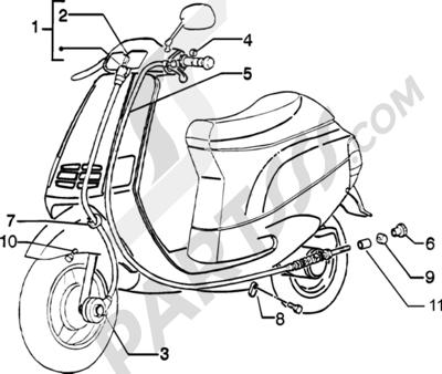 Piaggio Zip Catalyzed 1998-2005 Transmisiones