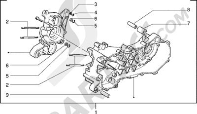 Piaggio Zip Fast Rider RST 1998-2005 Carter