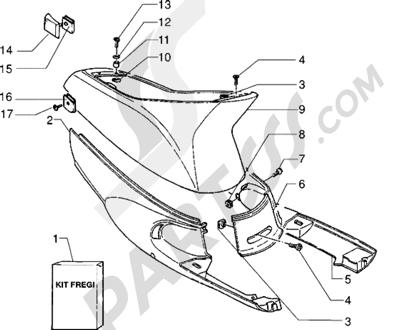 Piaggio Zip Fast Rider RST 1998-2005 Protecciones laterales