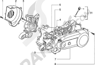 Piaggio Zip Fast Rider RST 1998-2005 Tapa del embrague-Tapa caracol
