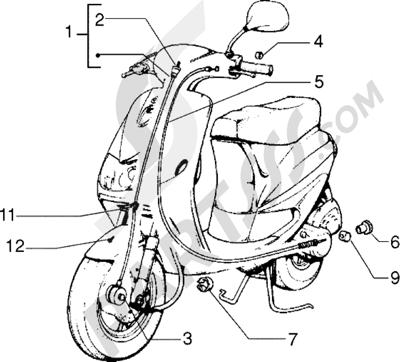 Piaggio Zip Fast Rider RST 1998-2005 Transmisiones