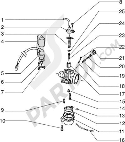 Piaggio Zip freno a disco 1998-2005 Carburador