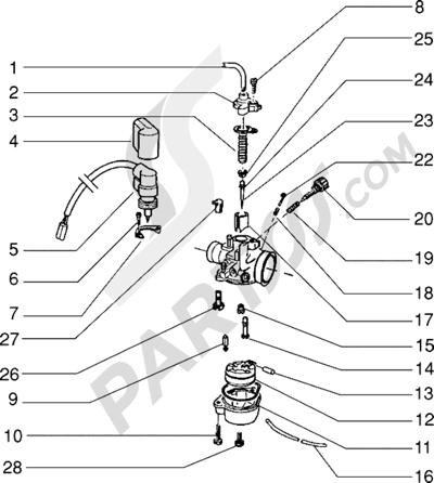 Piaggio Zip RST 1998-2005 Carburador